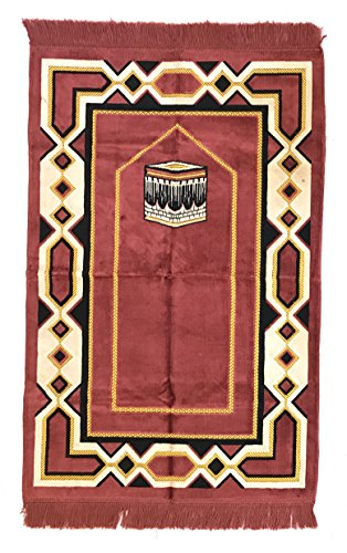 Super Spiegel Turkish Prayer Rugs with The Kabah, Prophet