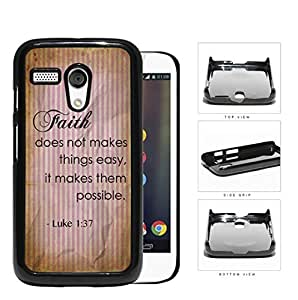 Luke 1:37 Bible Verse on Wrinkled Vintage Paper with Pink Stripes Motorola (Moto G) Hard Snap on Plastic Cell Phone Cover