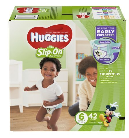 Huggies Size 6 Little Movers Slip On Diaper Pants Disney designs 42 each/ 2 PK by Huggies By ForHoME