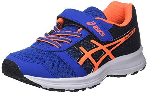 Asics Patriot 9 PS, Zapatillas de Running Para Niños Multicolor (Victoria Blue/shocking Orange/black 4530)