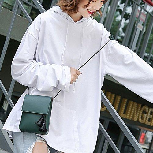 gris des 13 Green Sacs Sacs avec cuir Sac bandoulière paquets à vertical Femme léger 18cm acheter en étanche Joyfeel 6 Tassel 130cm wazUx