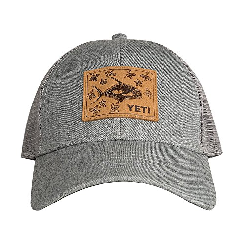 [YETI Permit in Mangroves Patch Trucker Hat Gray] (Yeti Hat)