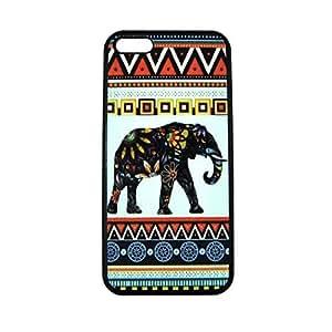 diy phone case365-shopping Elephant Art on Aztec Pattern Rubber Iphone 5 / Iphone 5s Casediy phone case