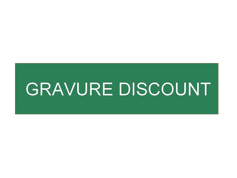 plaque ou etiquette boite aux lettres 1 ligne - verte 100x25mm Gravure Discount