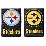 NFL Pittsburgh Steelers Suede Two Sided Glitter Embellished Garden Flag, Medium, Multicolored