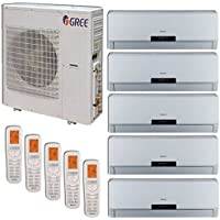 Gree MULTI42BNEO500 - 42,000 BTU +Multi Penta-Zone Wall Mount Mini Split Air Conditioner Heat Pump 208-230V (9-9-9-9-9)