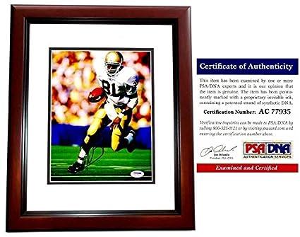 886b5b825 Tim Brown Signed - Autographed Notre Dame Fighting Irish 8x10 inch Photo  MAHOGANY CUSTOM FRAME -