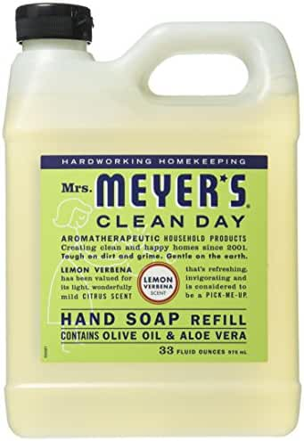 Mrs. Meyer's Liquid Hand Soap Refill, Lemon Verbena, 33 Fluid Ounce