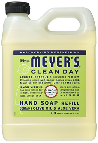 Mrs. Meyer's Liquid Hand Soap Refill, Lemon Verbena, 33 Fluid Ounce ()