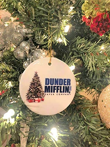 Funny Dwight Schrute Novelty Gift for Men and Women The Office Merchandise Vivid Ventures Bears Beets Battlestar Galactica Christmas Ornament Dunder Mifflin Inspired Christmas Tree Ornaments