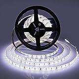 LEDMO LED Strip Lights,Super Bright 600 LEDs SMD2835 6000K Daylight White Waterproof 16.4Ft LED Tape for Home/Kitchen/Car/Bar