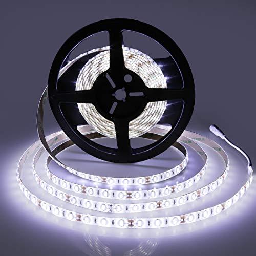 LED Strip Lights, SMD5630 Super Bright 6000K Tape Lighting 300 Units, 12V DC Waterproof, Light Strips, LED ribbon, DIY Christmas Holiday Home Kitchen Car Bar Indoor Party Decoration (Daylight (Bright Rope Light)