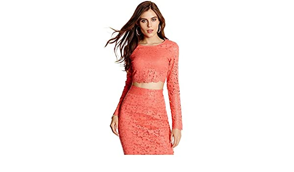 21bb3a15fff GUESS Marciano Piya Lace Crop Top: Amazon.ca: Clothing & Accessories