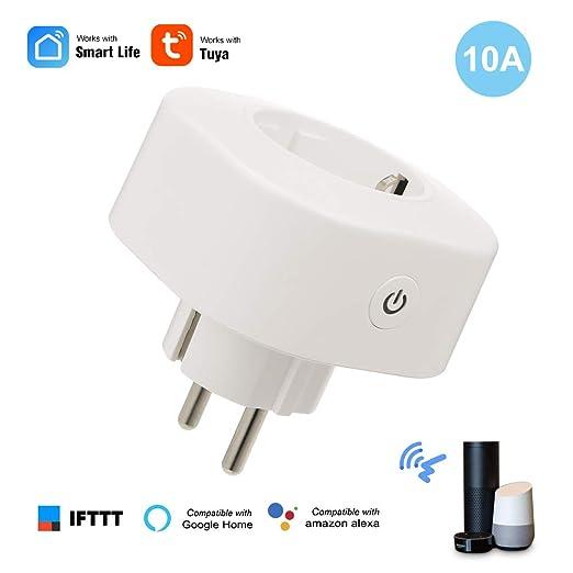 Leepesx Smart Power Plug Smart Home Socket Control de Voz ...