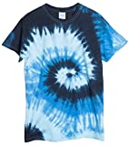 ocean blue tie dye shirt - Ragstock Tie Dye T-Shirt, Blue-Ocean - L