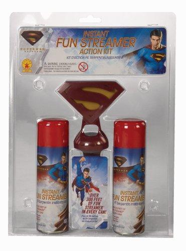 [Superman Returns Instant Fun Streamer Action Kit with Belt Clip] (Clark Kent Halloween Costume Girl)