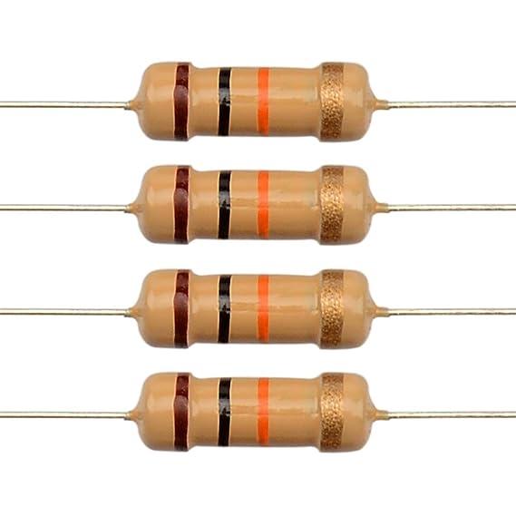 Pack of 100 HongYeTaja Carbon Film Resistor 4.7 Ohms 1//2 W 5/%