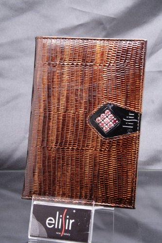 elisir パスポートカバー 正規スワロフスキーwith牛革エナメル加工 CAPRI B0089XCV48