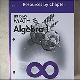 Amazon big ideas math algebra 1 common core resources by big ideas math algebra 1 common core resources by chapter 1st edition fandeluxe Choice Image