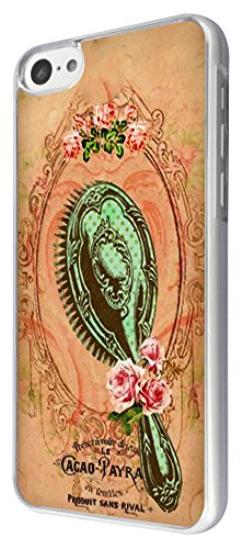 542 - Vintage Shabby Chic Victorian Mirror Brush Design iphone 5C Coque Fashion Trend Case Coque Protection Cover plastique et métal