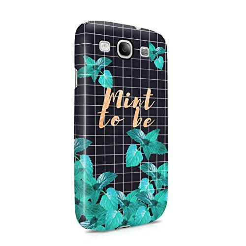 Mint To Be Checkered Mint Leaves Pattern Samsung Galaxy S3 Plastic Snap On Protective Case Cover