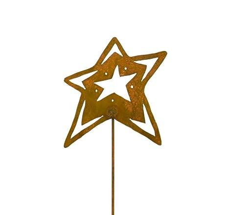 Amazon Com Open Star Decorative Metal Garden Stake Whimsical Yard