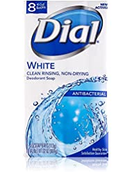 Dial Antibacterial Deodorant Soap, White, 4 Ounce, 8...