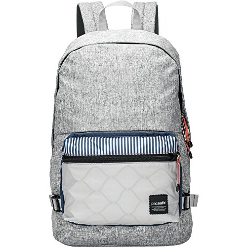 Pacsafe Slingsafe LX400 Anti-Theft Backpack with Detachable Pocket, Tweed Grey