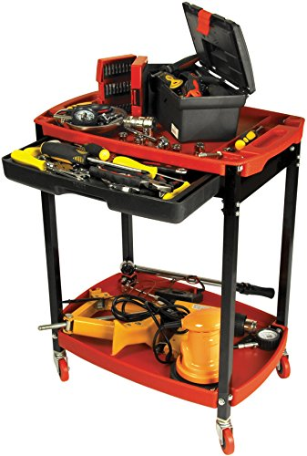Performance Tool W54032 Two shelf Compact Mechanic's Shop Cart With Store Tray