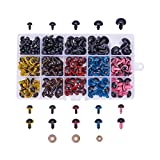 PH PandaHall PandaHall Elite 214 Pieces 8~16mm Colorful Safety Eyes Plastic Safety Eyes Plastic Eyes with Washers for Doll, Puppet, Plush Animal