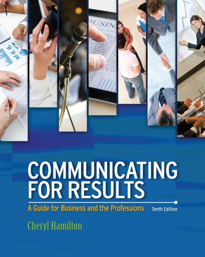 Download Communicating for Results: A Guide for Business and the Professions Pdf