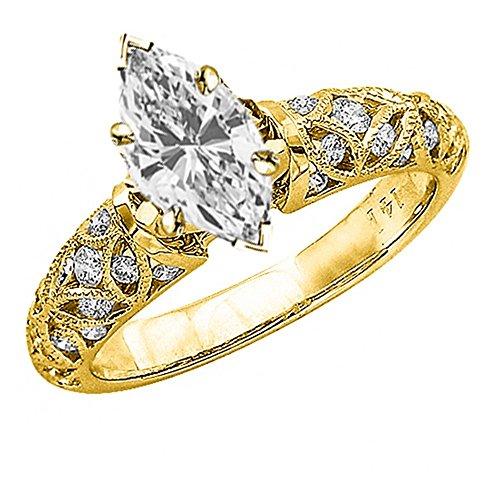 0.98 Ct Marquise Diamond - 3