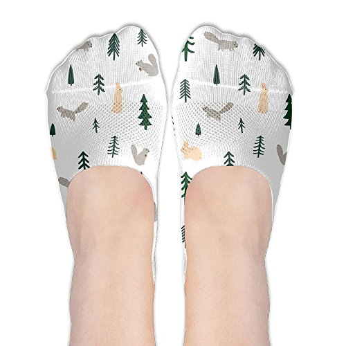 (Low Cut Socks Squirrel Rabbit Pine Forest Casual No-show Liner Invisible Sock For Girls &)