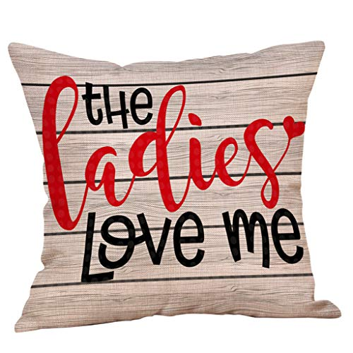 scamper Throw Pillow Covers I Love You Love You More Love You Most The End I Win Decorative Pillowcase for Valentine's Day