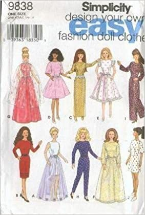 Design Your Own Doll Clothes | Design Your Own Fashion Doll Clothes Simplicity 9838 Simplicity
