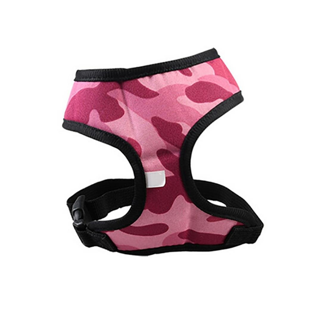 Smdoxi Comfort & Control Dog Harness 4-65 lbs;No Pull & No Choke Design, Camo Luxurious Padded Vest, Eco-Friendly, For Puppies and Dogs (Pink, M)
