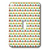 3dRose Anne Marie Baugh - Patterns - Cute and Colorful Mexican Hats On A White Background Pattern - Light Switch Covers - single toggle switch (lsp_295477_1)