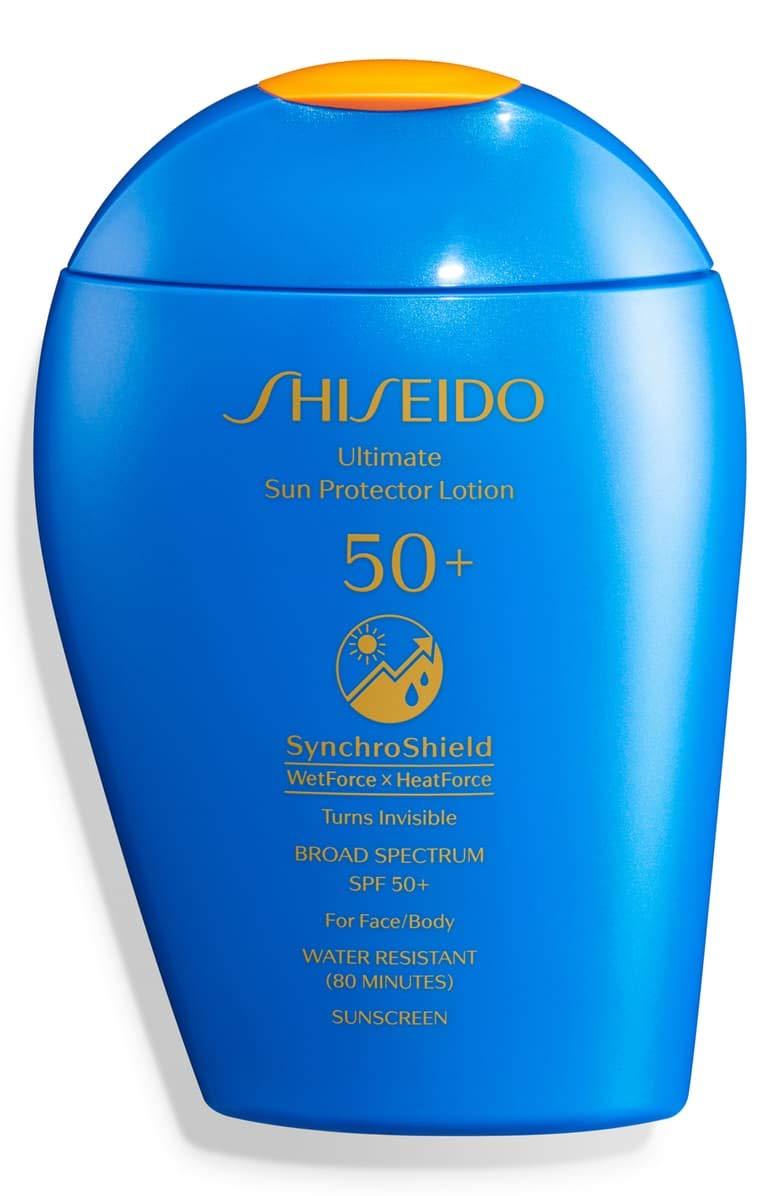 Shiseido Ultimate Sun Protector Lotion SPF 50+ Sunscreen SynchroShield WetForce X HeatForce, 150mL / 5 fl. oz