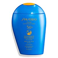 Shiseido Ultimate Sun Protector Lotion SPF 50+ Sunscreen SynchroShield WetForce...