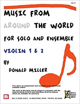 Music From Around The World For Solo and Ensemble: Violin 1 and 2