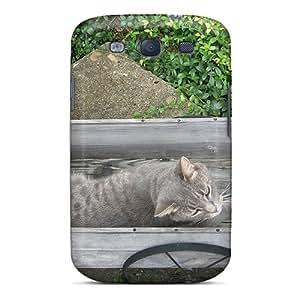 New Cat In Wagon Tpu Case Cover, Anti-scratch Zar2305lsNi Phone Case For Galaxy S3