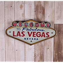Las Vegas-style Plaques Wrought Iron Wall Decor Illuminated Welcome Sign Wall Hhanging Decorative Signs YY51002