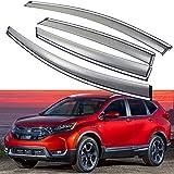 SPEEDLONG 4Pcs Car Window Visor Vent Shade Deflector Sun/Rain Guard for Honda CR-V 2017 2018 2019 (Honda CR-V 2017-2019)