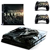 MightyStickers - The Elder Scrolls V Skyrim PS4 Console Wrap Cover Skins Vinyl Sticker Decal Protective for Sony PlayStation 4 + 2 Controller