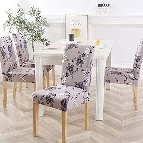 Terrific Amazon Com Yizitao Elastic Dining Chair Covers Fur Pattern Andrewgaddart Wooden Chair Designs For Living Room Andrewgaddartcom