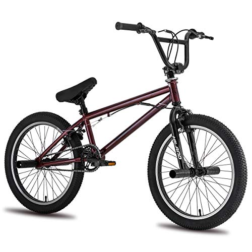 Hiland Kids BMX Bike for Children Freestyle Bicycle with Pegs