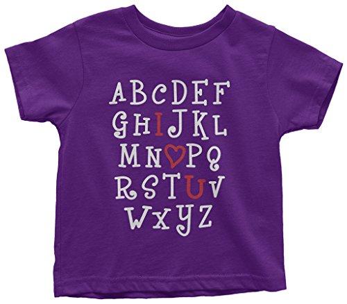 Threadrock Kids I Heart You Alphabet Toddler T-Shirt 2T (Alphabet Tee)