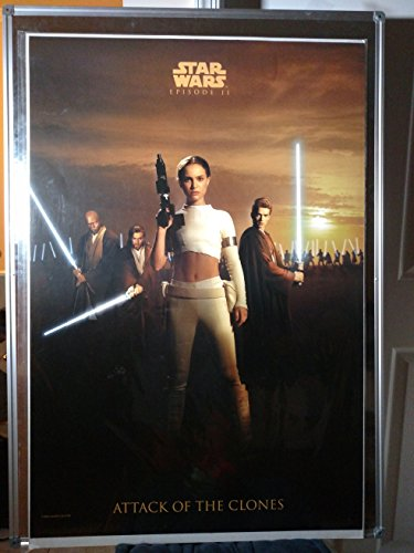 Star Wars Attack Of The Clones International Original Single Sided Rolled 27x40 Movie Poster 2002