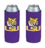 NCAA 2013 College Ultra Slim Beer Can Holder Koozie 2-Pack (LSU Tigers)