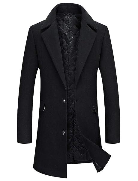 Amazon.com: Mordenmiss - Chaqueta de lana para hombre ...